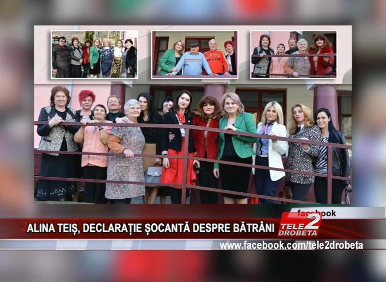 ALINA TEIȘ, DECLARAȚIE ȘOCANTĂ DESPRE BĂTRÂNI