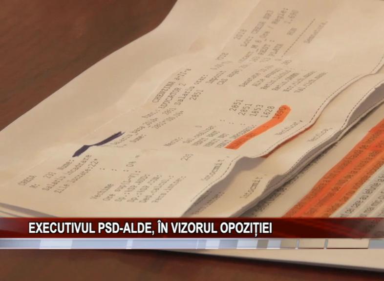 EXECUTIVUL PSD-ALDE, ÎN VIZORUL OPOZIȚIEI