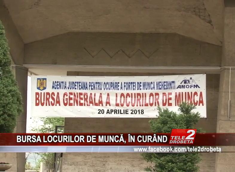 BURSA LOCURILOR DE MUNCĂ, ÎN CURÂND