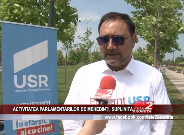 ACTIVITATEA PARLAMENTARILOR DE MEHEDINȚI, SUPLINITĂ