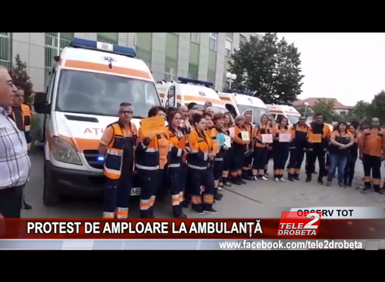 PROTEST DE AMPLOARE LA AMBULANȚĂ