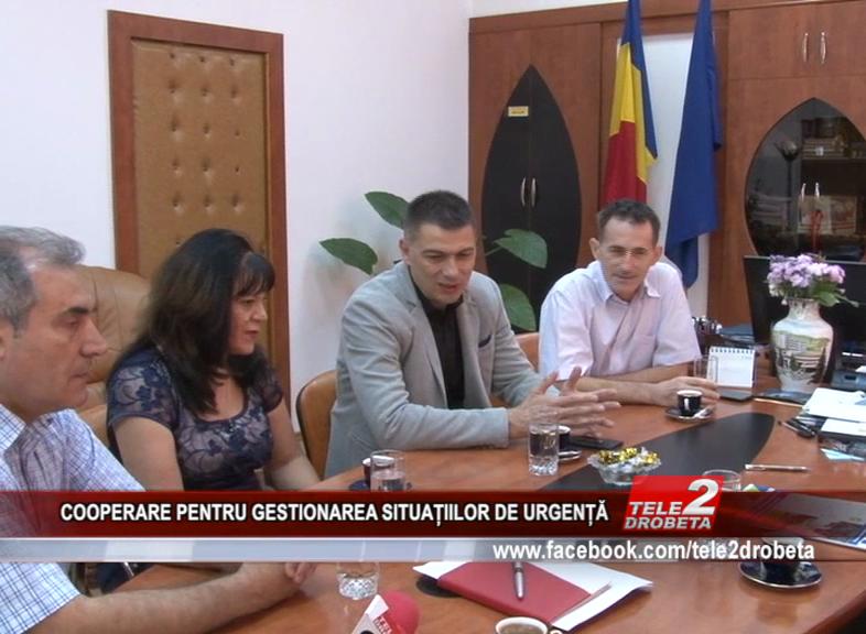 COOPERARE PENTRU GESTIONAREA SITUAȚIILOR DE URGENȚĂ