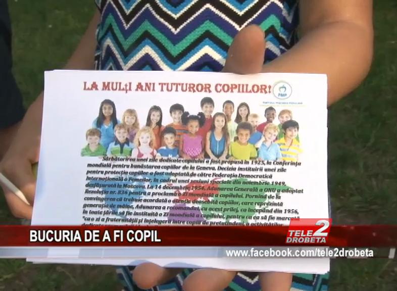BUCURIA DE A FI COPIL