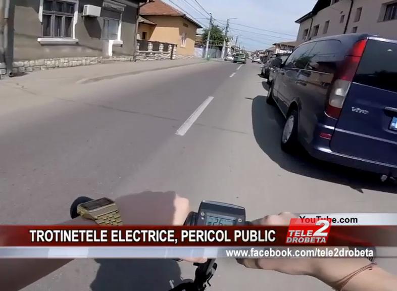 TROTINETELE ELECTRICE, PERICOL PUBLIC