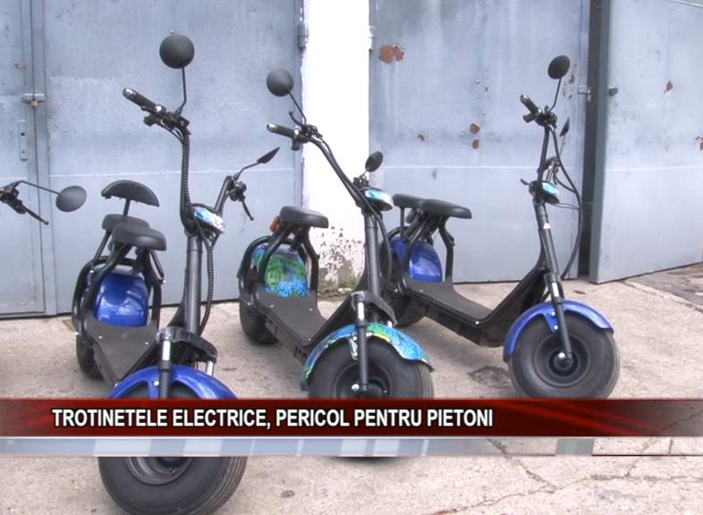 TROTINETELE ELECTRICE, PERICOL PENTRU PIETONI