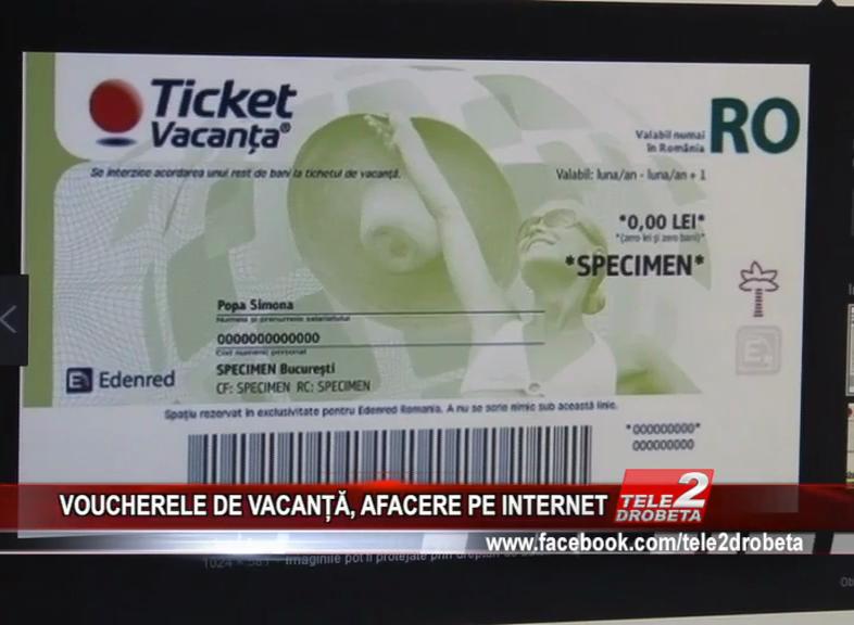 VOUCHERELE DE VACANȚĂ, AFACERE PE INTERNET