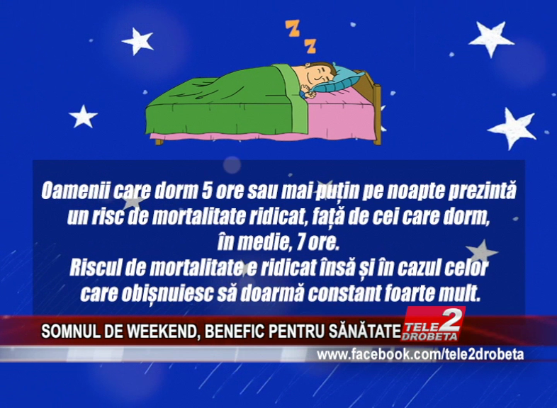 SOMNUL DE WEEKEND, BENEFIC PENTRU SĂNĂTATE
