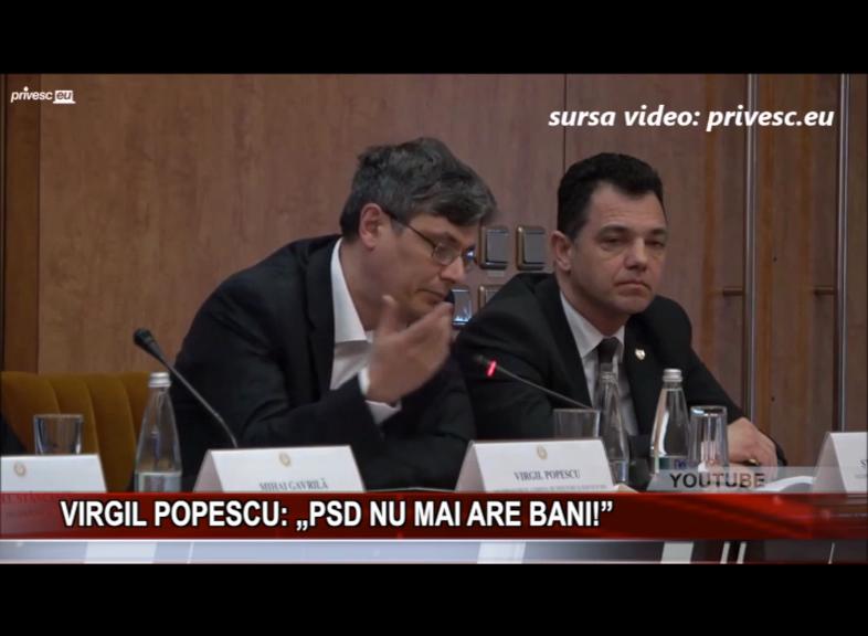 """VIRGIL POPESCU: """"PSD NU MAI ARE BANI!"""""""