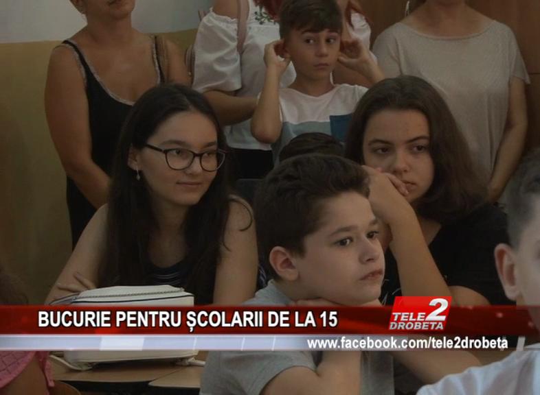 BUCURIE PENTRU ȘCOLARII DE LA 15