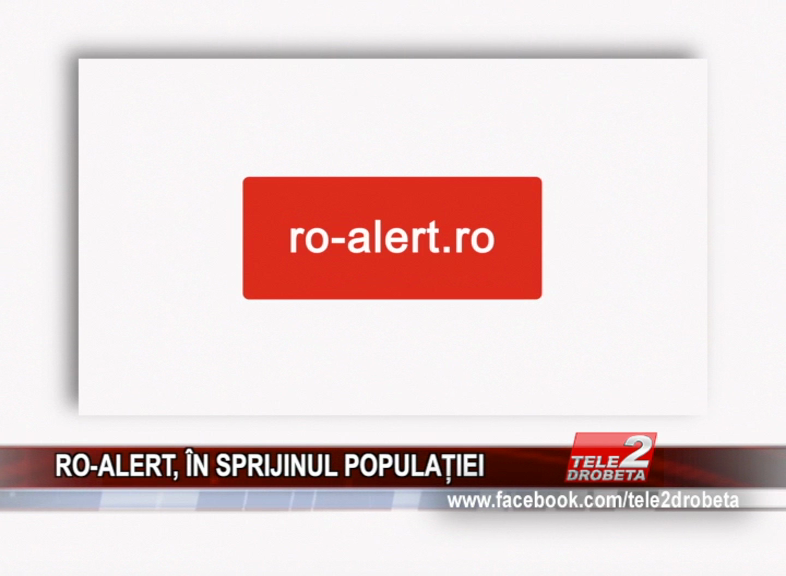 RO-ALERT, ÎN SPRIJINUL POPULAȚIEI