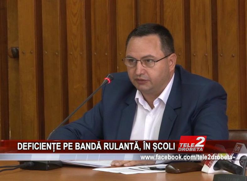 DEFICIENȚE PE BANDĂ RULANTĂ, ÎN ȘCOLI
