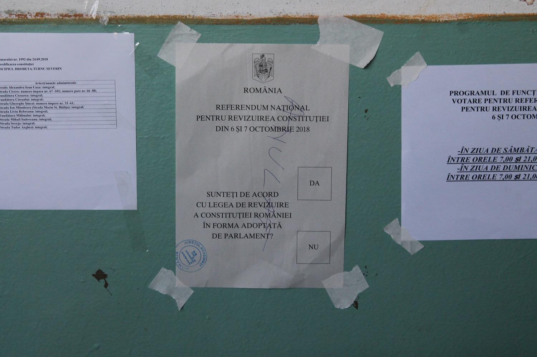 SEVERINUL, CEL MAI MIC PROCENT DE PARTICIPARE LA VOT – 13,39 la sută