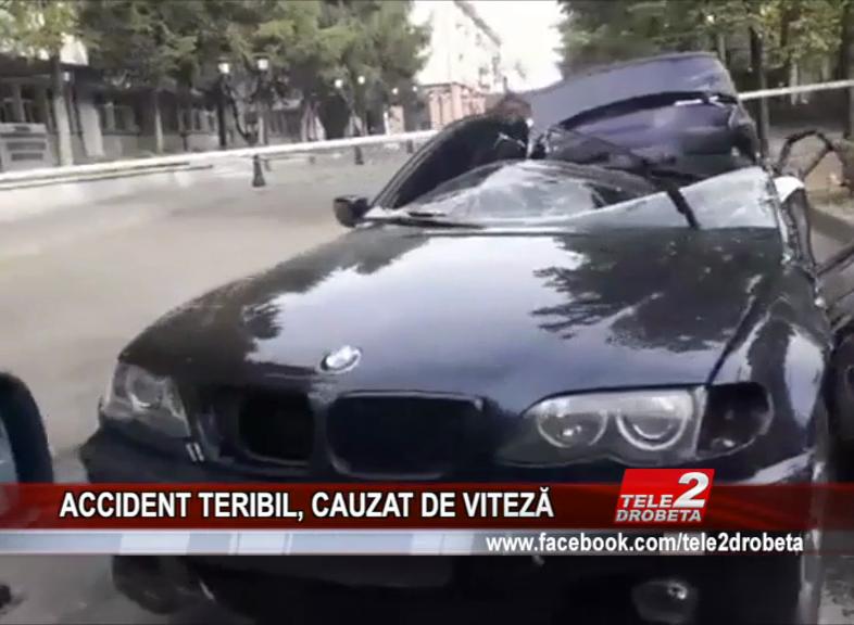 ACCIDENT TERIBIL, CAUZAT DE VITEZĂ