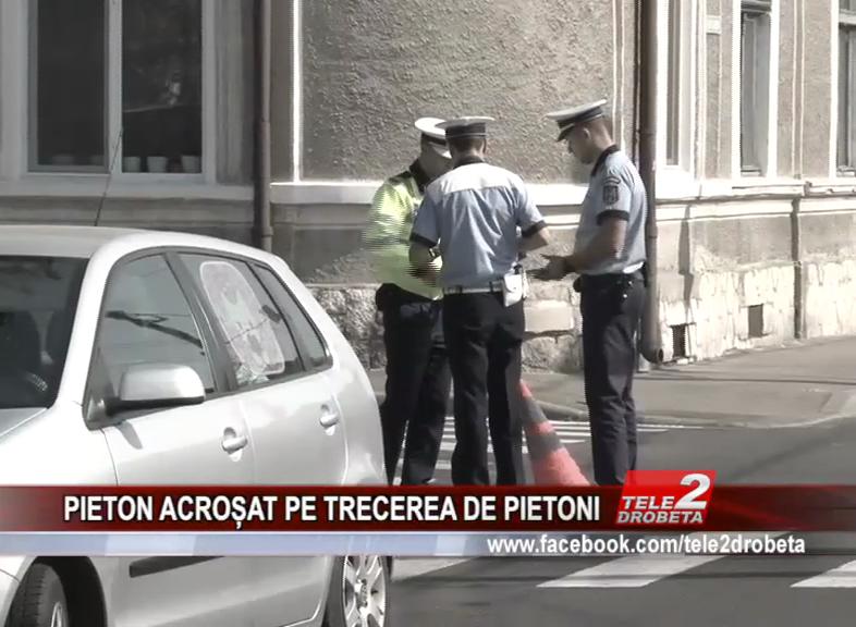 PIETON ACROȘAT PE TRECEREA DE PIETONI