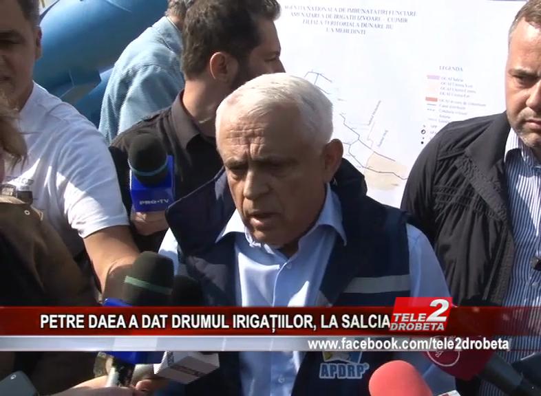 PETRE DAEA A DAT DRUMUL IRIGAȚIILOR, LA SALCIA