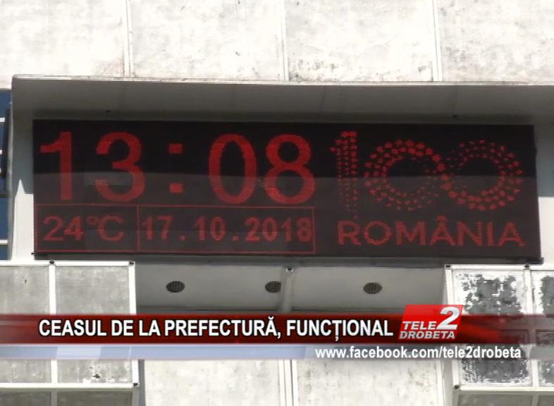 CEASUL DE LA PREFECTURĂ, FUNCȚIONAL