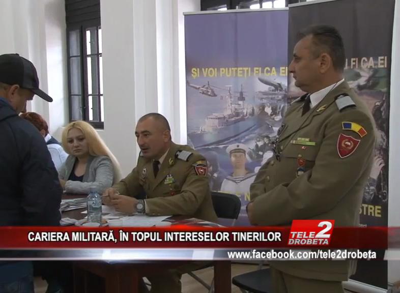 CARIERA MILITARĂ, PE LISTA TINERILOR
