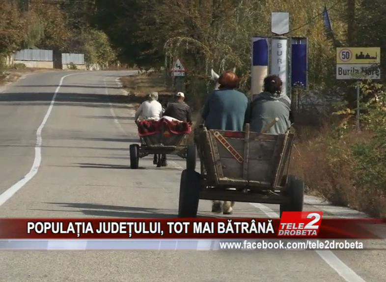 POPULAȚIA JUDEȚULUI, TOT MAI BĂTRÂNĂ