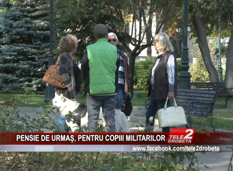 PENSIE DE URMAȘ, PENTRU COPIII MILITARILOR