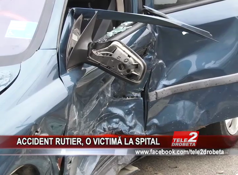 ACCIDENT RUTIER, O VICTIMĂ LA SPITAL