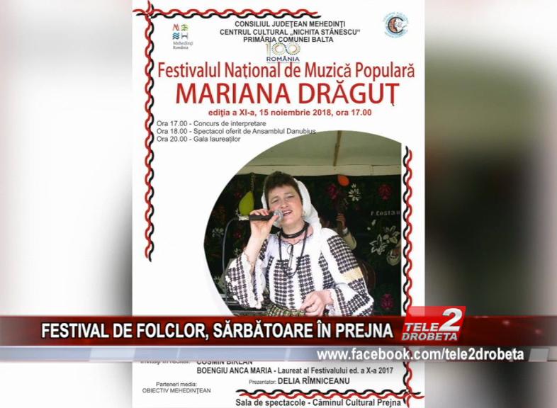 FESTIVAL DE FOLCLOR, SĂRBĂTOARE ÎN PREJNA