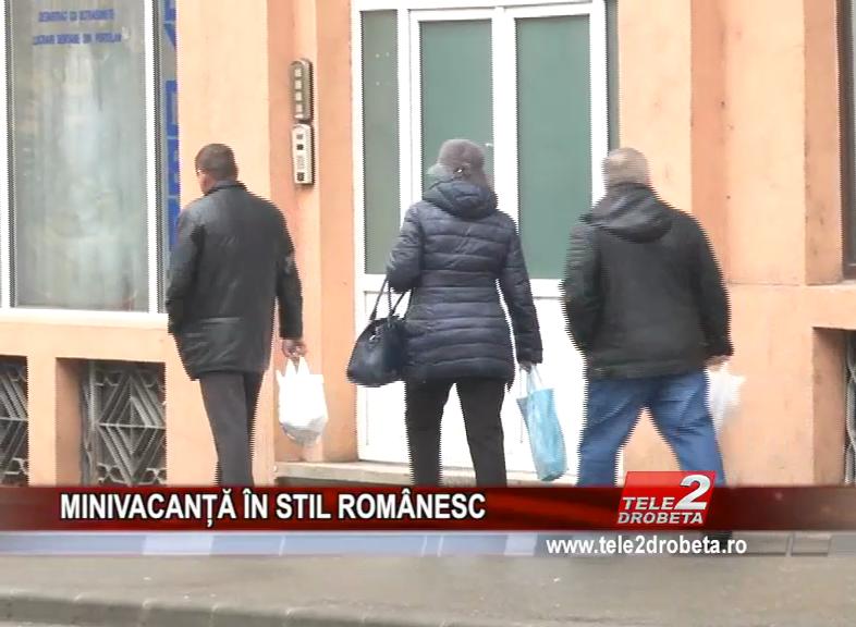 MINIVACANȚĂ ÎN STIL ROMÂNESC
