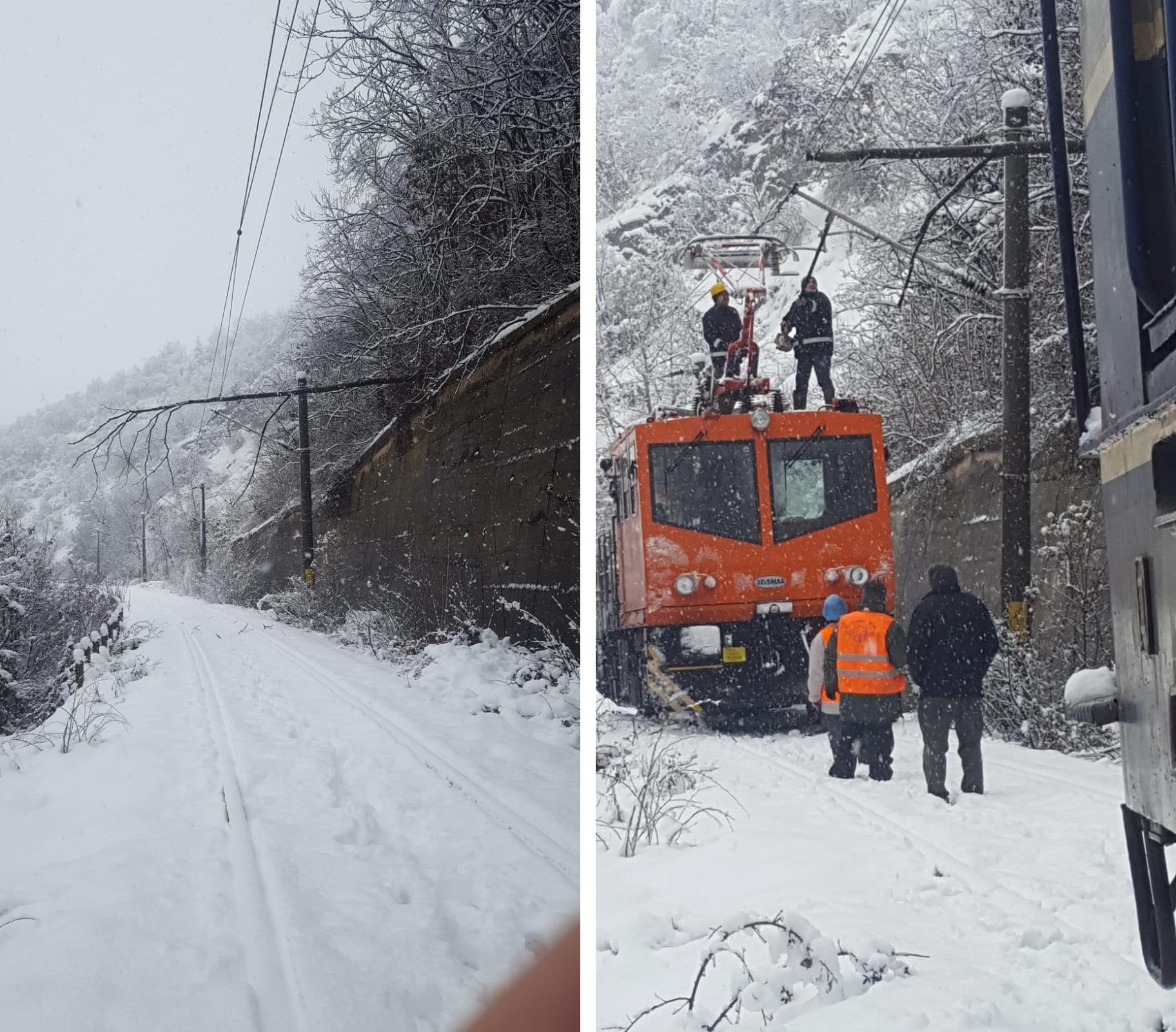 Trenuri blocate și mii de familii fără curent, drumuri blocate, accidente grave