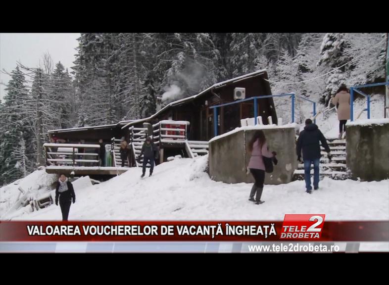 VALOAREA VOUCHERELOR DE VACANȚĂ ÎNGHEAȚĂ