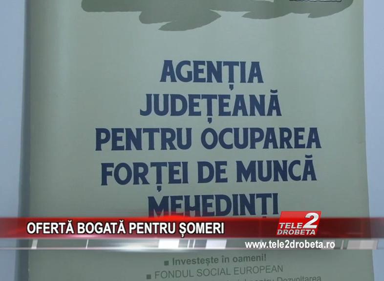 OFERTĂ BOGATĂ PENTRU ȘOMERI