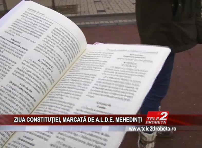 ZIUA CONSTITUȚIEI, MARCATĂ DE A.L.D.E. MEHEDINȚI