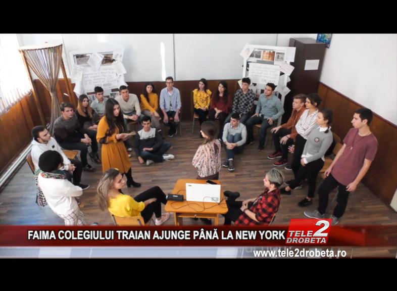 FAIMA COLEGIULUI TRAIAN AJUNGE PÂNĂ LA NEW YORK