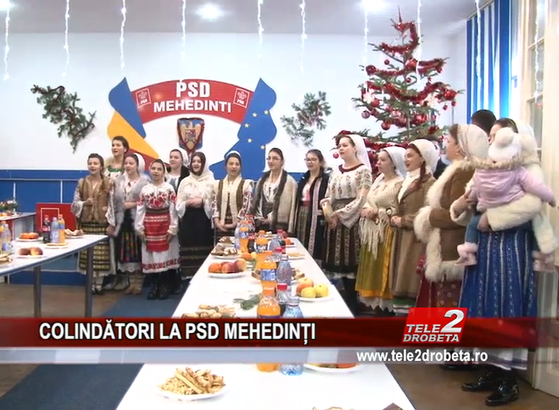 COLINDĂTORI LA PSD MEHEDINȚI