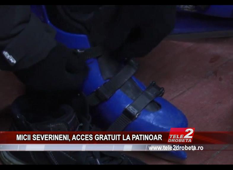 MICII SEVERINENI, ACCES GRATUIT LA PATINOAR