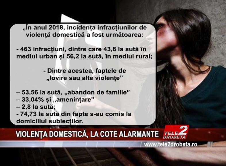 VIOLENȚA DOMESTICĂ, LA COTE ALARMANTE
