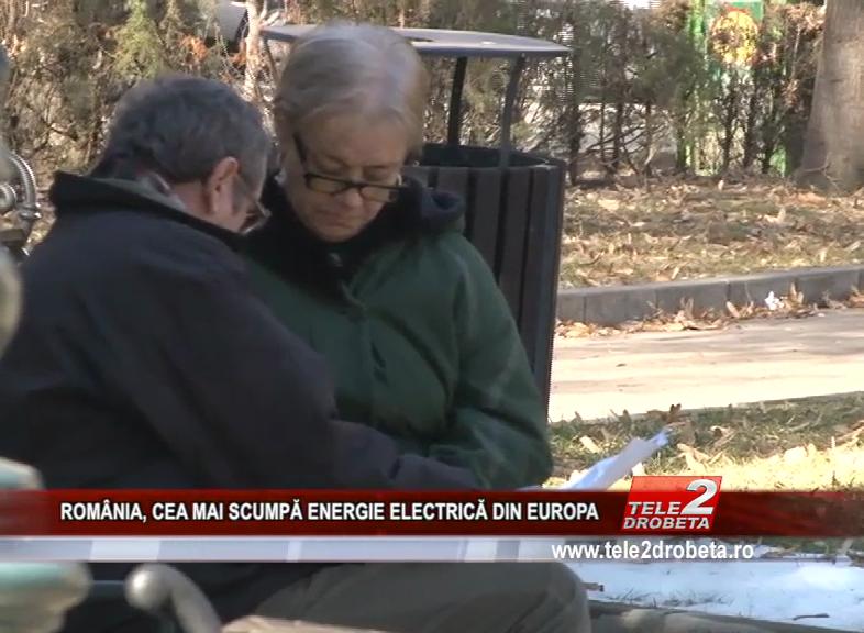 ROMÂNIA, CEA MAI SCUMPĂ ENERGIE ELECTRICĂ DIN EUROPA