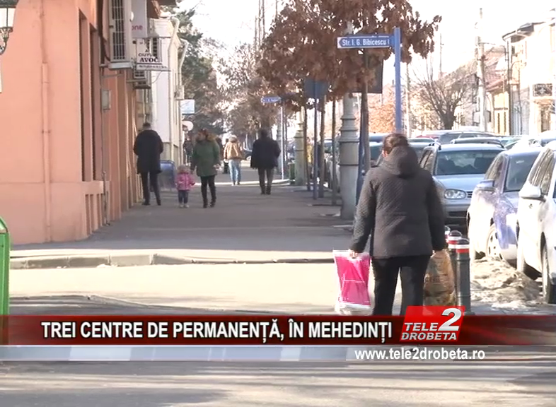 TREI CENTRE DE PERMANENȚĂ, ÎN MEHEDINȚI
