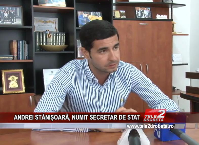 ANDREI STĂNIȘOARĂ, NUMIT SECRETAR DE STAT