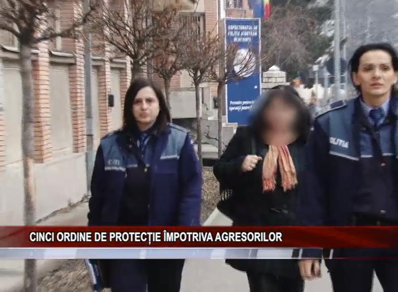 CINCI ORDINE DE PROTECȚIE ÎMPOTRIVA AGRESORILOR