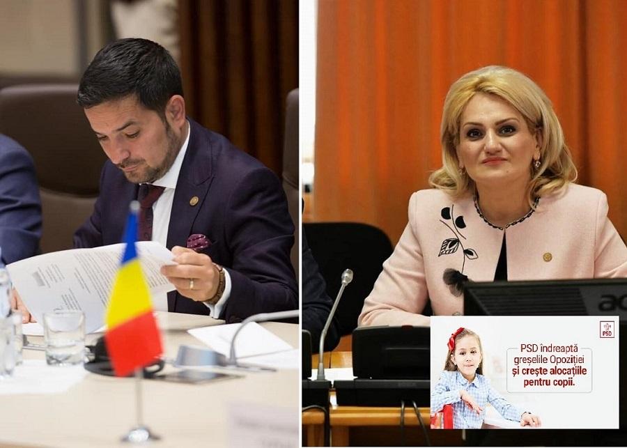 PARLAMENTARII PSD REACȚIONEAZĂ LA ALOCAȚII