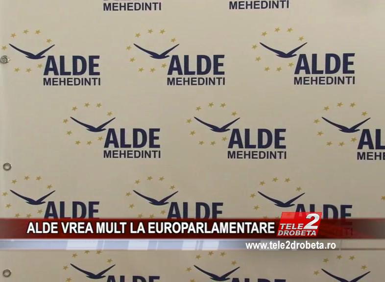 ALDE VREA MULT LA EUROPARLAMENTARE