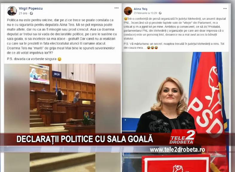 DECLARAȚII POLITICE CU SALA GOALĂ