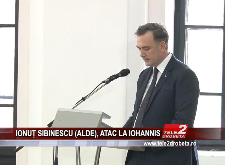 IONUȚ SIBINESCU (ALDE), ATAC LA IOHANNIS