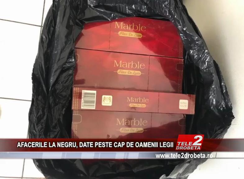 AFACERILE LA NEGRU, DATE PESTE CAP DE OAMENII LEGII