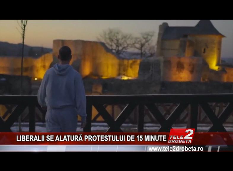 LIBERALII SE ALATURĂ PROTESTULUI DE 15 MINUTE