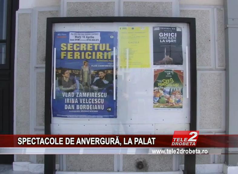 SPECTACOLE DE ANVERGURĂ, LA PALAT