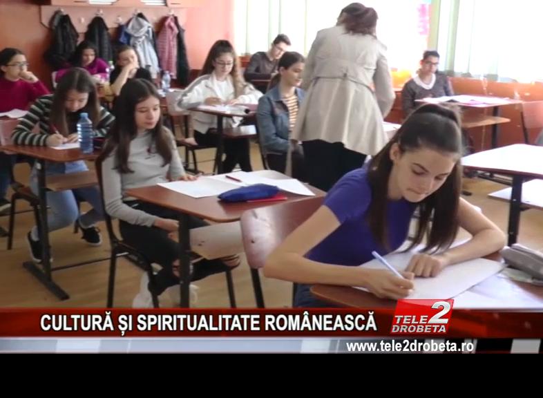 CULTURĂ ȘI SPIRITUALITATE ROMÂNEASCĂ