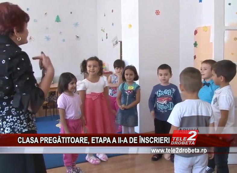 CLASA PREGĂTITOARE, ETAPA A II-A DE ÎNSCRIERI