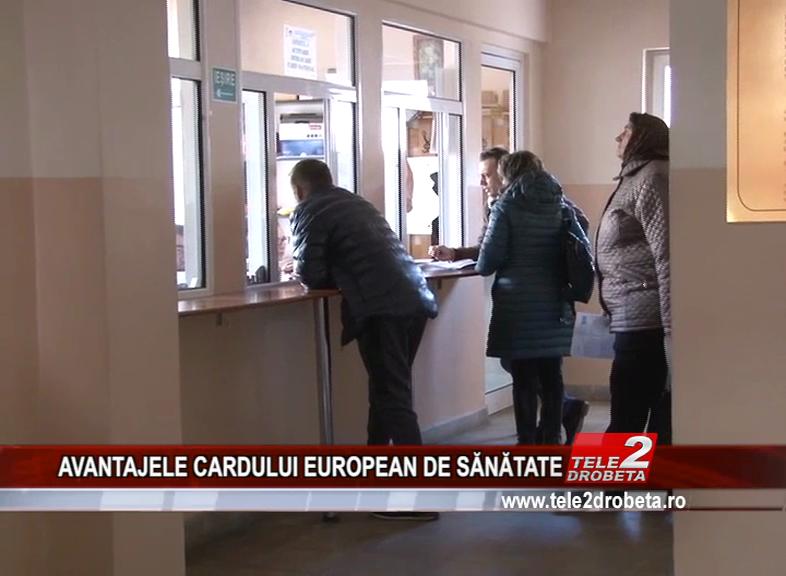 AVANTAJELE CARDULUI EUROPEAN DE SĂNĂTATE