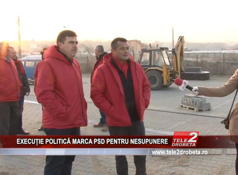 EXECUTIE POLITICA MARCA PSD PENTRU NESUPUNERE