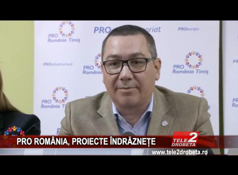 PRO ROMÂNIA, PROIECTE ÎNDRĂZNEȚE